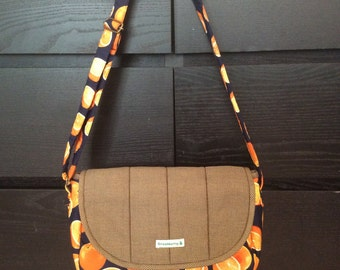 Orange pattern cross body bag