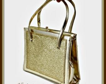 Vintage Gold Handbag, Vintage Handbag, Vintage Gold Purse, Vintage Purse, Vintage Gold Evening Bag, Vintage Evening Bag, Vintage Gold Bag