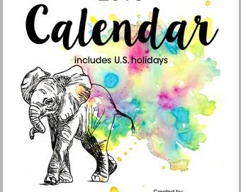 SALE    2016 Elephant Calendar