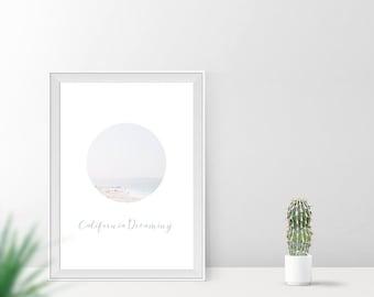 Art print / / california dreaming.