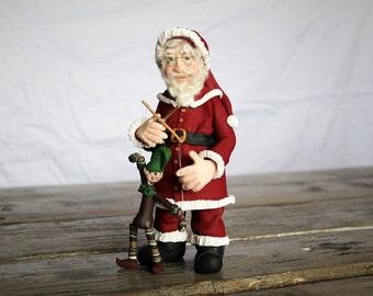Old World Santa, Polymer Clay, puppet
