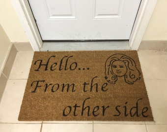 Hello From the Other Side Adele Door Mat