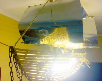 Sailing boat chandelier
