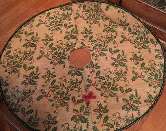 Burlap Christmas Tree Skirt/burlap tree skirt
