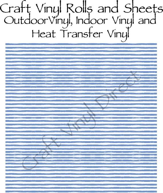 Blue Watercolor Stripe Craft Vinyl and Heat Transfer