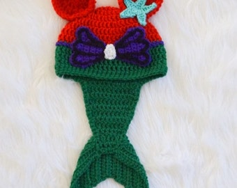 crochet mermaid beanie