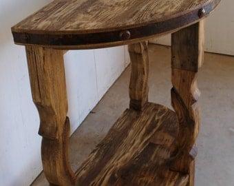 half moon table etsy. Black Bedroom Furniture Sets. Home Design Ideas