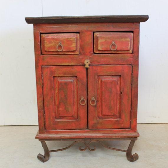 Rustic vanity stand iron legs handmade southwestern old Southwestern style bathroom vanities