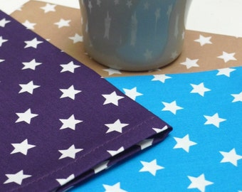 Cotton napkins stars, set of 3 pieces