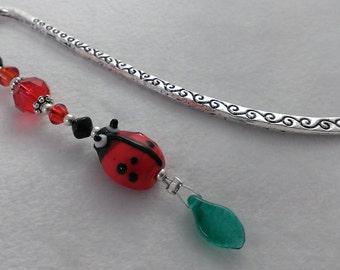 Ladybird Ladybug insect beaded bookmark