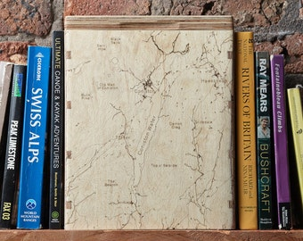 Map Box -  Personalised Map - OS Map Storage - Engraved Map Box - Ordnance Survey - Storage Box for Maps