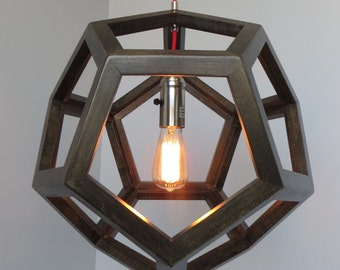 Dodecahedron geometric hanging pendant light by for Dodecahedron light fixture