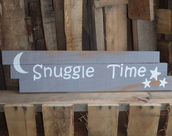 Snuggle Time Nursery reclaimed wood sign