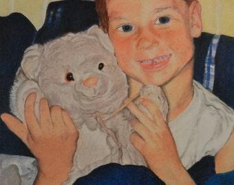 Custom Pastel Individual Portrait (EXAMPLE)