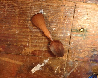 Hand-carved toasted damson spoon