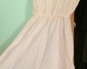 1970's Vintage Polka Dot A-line Dress