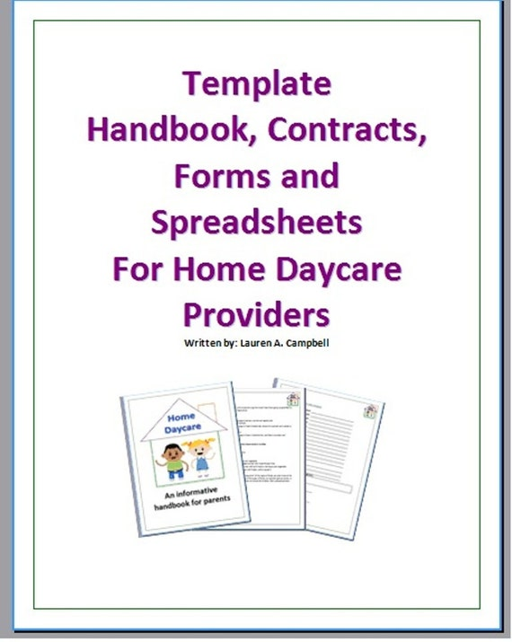 home daycare handbook contracts forms and by disneyworldfamily. Black Bedroom Furniture Sets. Home Design Ideas