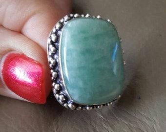 Amazonite Ring - Size 8.75!