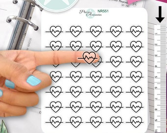 Clear Hospital Stickers Medical Stickers Doctor Stickers Planner Stickers Erin Condren Functional Stickers Decorative Stickers NR551