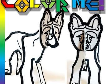Dog German Shepherd - Printable Toy