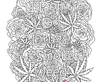 Marijuana Munchies Music Adult Coloring Pages by The