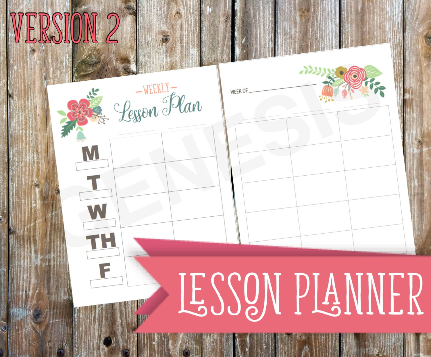 Lesson Planner Homeschool Version 2 Planner By