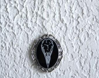 bird skull pendant antique sylver antique bronze