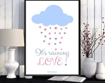 Illustration children, Nursery decor, Children poster, Bedroom wall decor, Nursery art, Illustration print, Illustration art, Art print