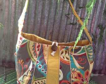 Gold lined tote