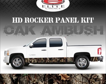 "Oak Ambush Camo Rocker Panel Graphic Decal Wrap Truck SUV - 12"" x 24FT"