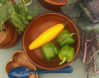Mid Cenury, Danish inspired, Vintage wooden bowl, salad bowl, BPA free, organic kitchen, craftsman, rustic wood serving piece, handcrafted