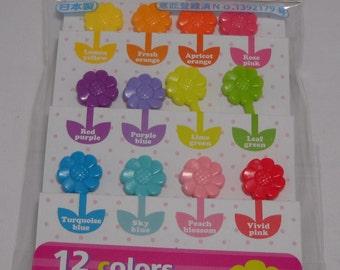 Torune Lunch Decoration Bento Accessory 3D Food Pick Color Flower 12pcs