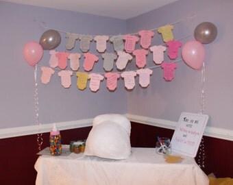 Baby Shower - Wishing Onesie Tags  - 2 Custom Colors (set of 20)