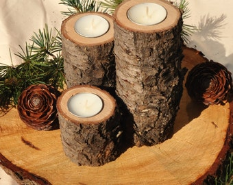 Candle Holders for Wedding Centrepiece, Cedar Wood Candle Holder, Rustic Wedding Candle Holders, Rustic Candle Holders, Wedding Centerpiece