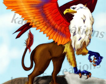 Griffin Digital Wall Art Print