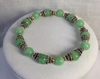 Bracelet -  Siler and Jade color