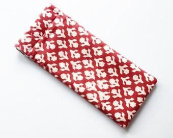 Red Glasses Holder - Retro / Geometric Glasses/ Sunglasses Case - Gift for Her/ Present for Her