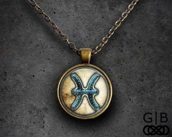 Pisces Astrology Necklace Pisces Astrology Pendant Jewelry - Pisces Birthday Present Necklace Pisces Pendant Necklace Pisces Astrology Gift