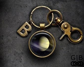 Saturn Keychain Planet Saturn Keyring Planet Accessories - Solar System Saturn Keyring - Saturn Rings Keychain Accessories Saturn Keyring