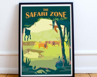 Pokemon Safari Zone | Travel Poster | Unframed