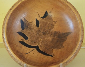 Shadow leaf bowl