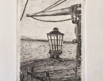 "Original Print ""On The Horizon"""