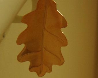 Copper Oak Leaf
