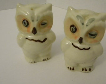 Shawnee Owls, Salt and Pepper Shakers
