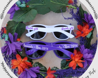 Custom Flower Girl, Ring Bearer, Bridal Party or Wedding Favor Sunglasses