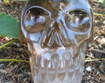 Large Hand Carved Smoky Quartz Skull from Brazil | Collectible Crystal Skull Display Piece | Healing Crystal Skull #20