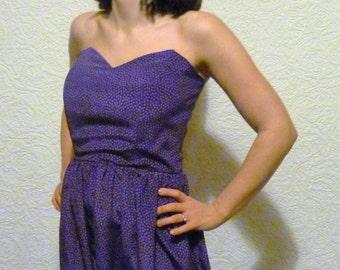 Vintage strapless skater dress