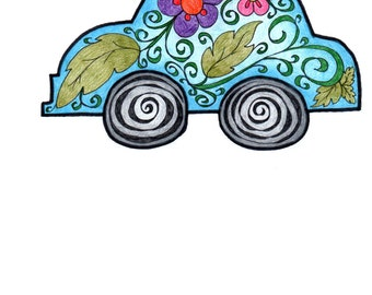 Car Coloring Page!