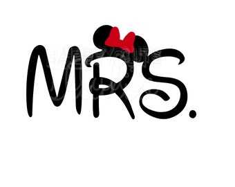 Personalized Mrs. Mr. Wedding Anniversary Couple Couples Mickey Mouse Matching Family Disney Iron On Decal Vinyl for Shirt 050
