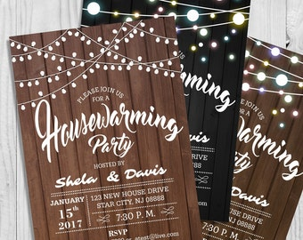 Customize Housewarming Party Invitation Card - Sweet Home Party Invitation - Fully Customize Editable Card - Digital Download